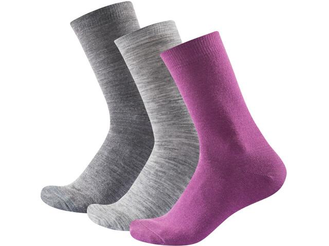 Devold Daily Light Socks Women 3-Pack Anemone Mix